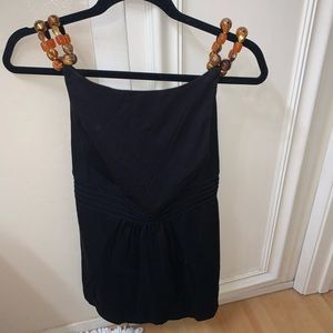NWT Sleeveless INC top with beaded straps.Size M